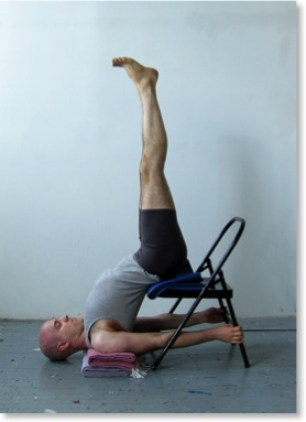 A modification for shoulderstand.